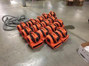 Water Damage Equipment Floor Preparation